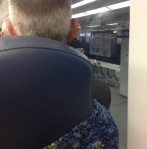 The man in front of me on the train...note, I got a window seat!