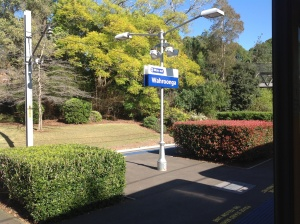A nice empty station on a beautiful sunny day