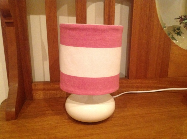 The lampshade to match my daughter's cushions - lampshades are so not my strength................I'm teaching myself but badly need some lessons.