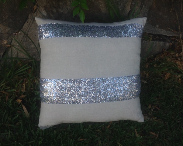 Neutral linen with sequins